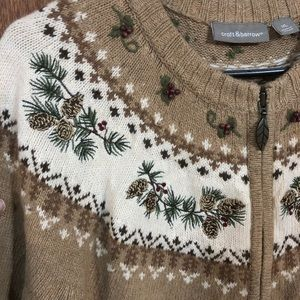 croft & barrow Sweaters - Croft & Barrow tan pinecone sweater XL
